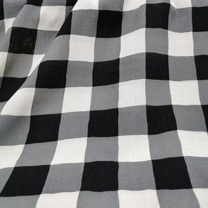 Art Gallery Rayon, Large Black And White Gingham -1/4 metre