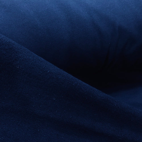 100%  Cotton Loop Back Fleece, Navy - 1/4 metre