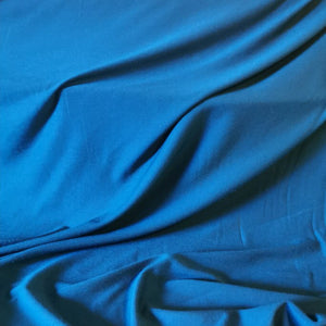 Bamboo Viscose Jersey in teal. 200gsm and 150cm wide.