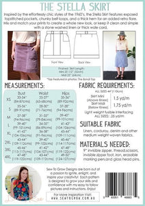 Sew To Grow Patterns - The Stella Skirt