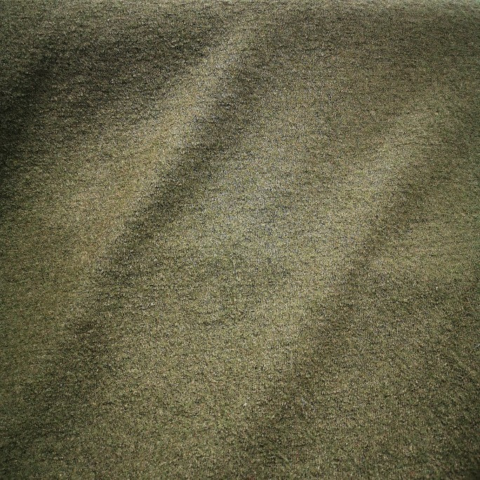 100% Boiled Wool, Dark Olive - 1/4metre