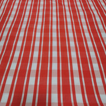 Load image into Gallery viewer, Viscose Linen Blend, Red Gingham  - 1/4metre