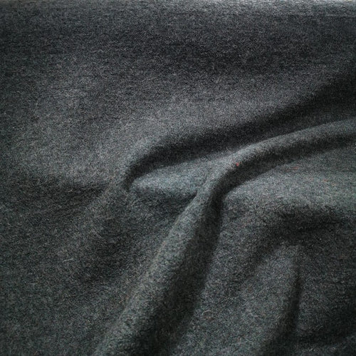 100% Boiled Wool, Dark Grey Marle - 1/4metre