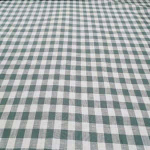 100% Linen, Duck Egg Check - 1/4metre