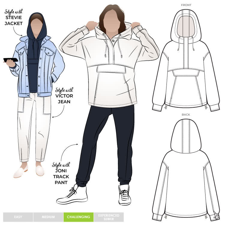 Style Arc Kennedy Hooded Top - sizes 4 to 16