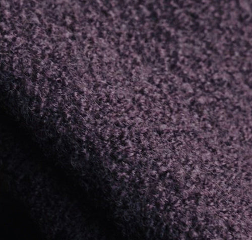 100% Boiled Wool, Aubergine - 1/4metre - buy online or in store