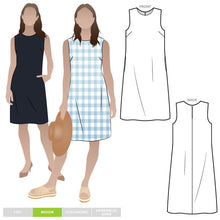 Load image into Gallery viewer, Style Arc Patterns June Sheath Dress - sizes 10 to 22