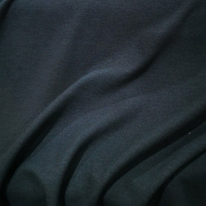 100% Mechanical Cotton Knit, Black - 1/4 metre