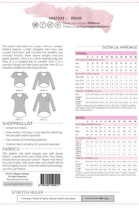 Megan Nielsen Briar Sweater and T Shirt Pattern