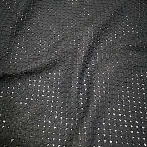 100% Cotton Embroidery Anglaise, Black- 1/4 metre
