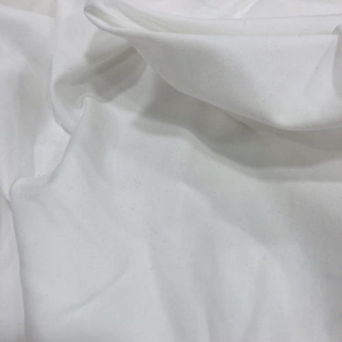 Organic Cotton Jersey in White - 1/4 metre