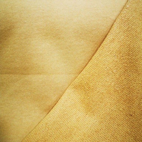 100%  Cotton Loop Back Fleece, Mustard - 1/4 metre