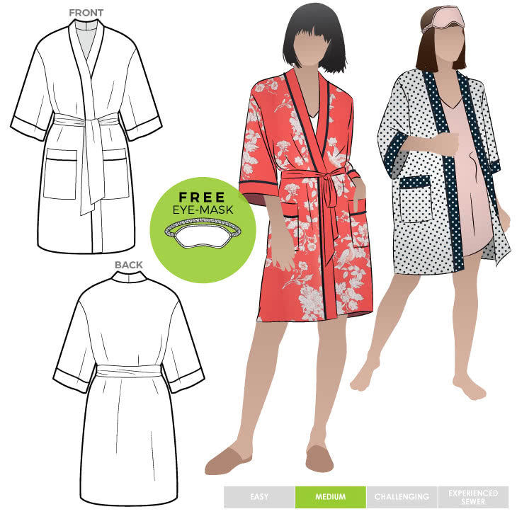 Style Arc Loungewear Robe - sizes 18 to 30
