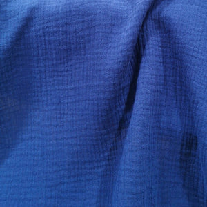 100% Cotton Double Cloth Gauze, Denim Blue - 1/4 metre