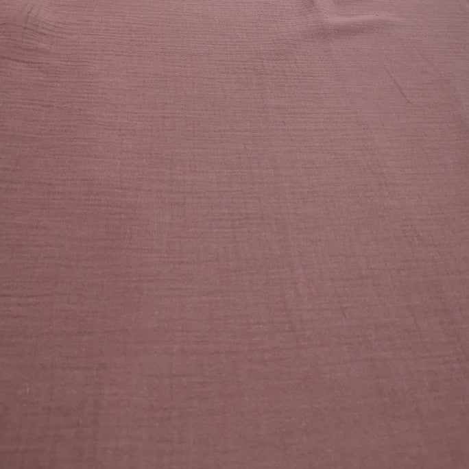 100% Organic Cotton Double Cloth Gauze, Raisin - 1/4 metre