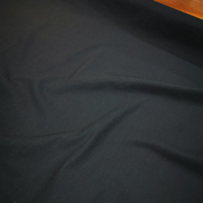 100% Compact Cotton, Black - 1/4 metre