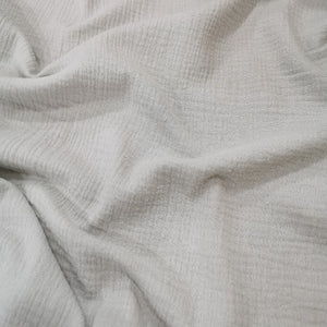 100 % Cotton Double Cloth Gauze, Silver Smoke - 1/4 metre