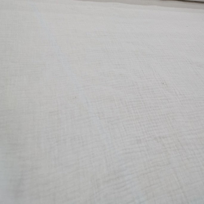 100 % Organic Cotton Double Cloth Gauze, White - 1/4 metre
