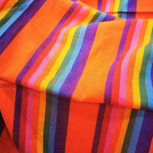100% Cotton, Sunset Stripe - 1/4 metre