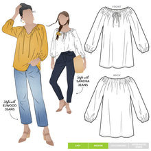 Load image into Gallery viewer, Style Anita Peasant Blouse - sizes 4 to 16