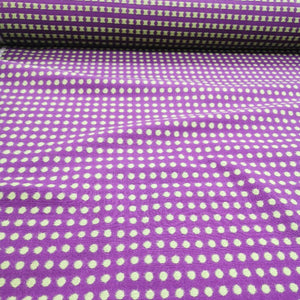 100% Cotton Embroidered Spot, Purple - 1/4 metre