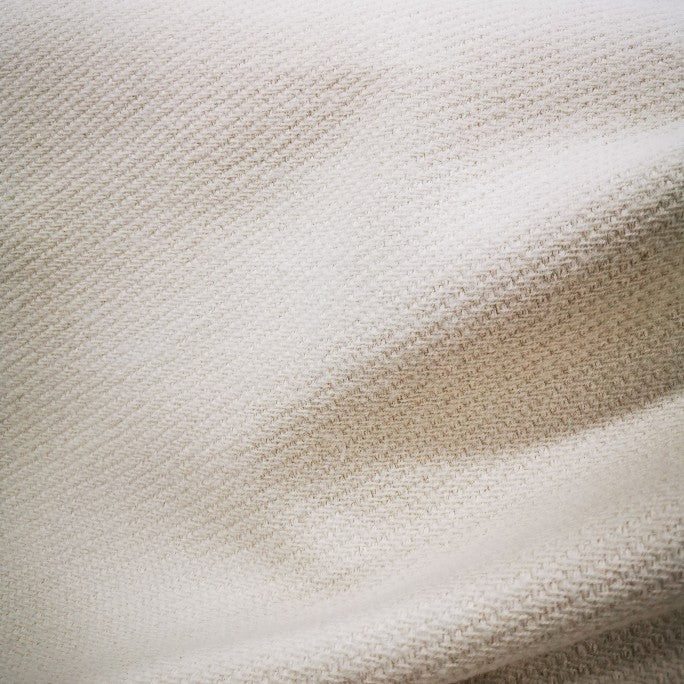 Wool Cotton Blend in Cream - 1/4 metre