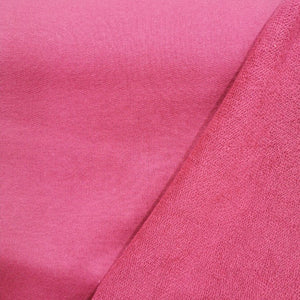 100%  Cotton Loop Back Fleece, Marsala - 1/4 metre