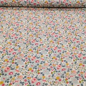 Liberty 100% Cotton Tana Lawn, Betsy Grey - 1/4 metre