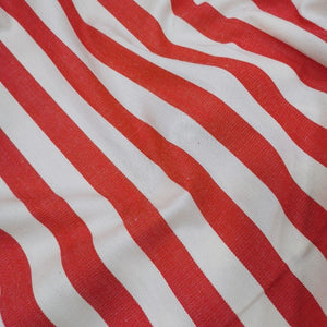 100% Cotton, Red and White Stripe - 1/4 metre