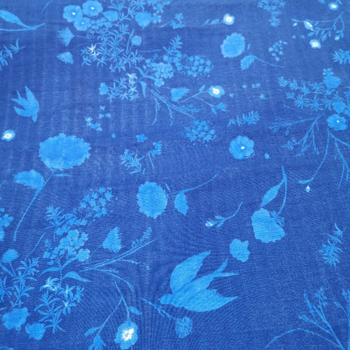 Nani IRO Double Cotton Gauze, Bird's Eye Blossom - 1/4 metre