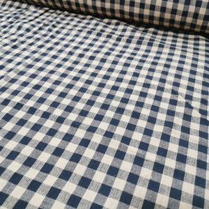 100% Cotton, Black and Tan Check - 1/4metre