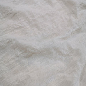 Cotton Tencel Seersucker, White - 1/4 metre