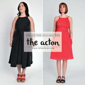 In The Folds Patterns - The Acton Dress