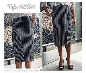 Style Arc Taylor Knit Skirt - sizes 18 to 30