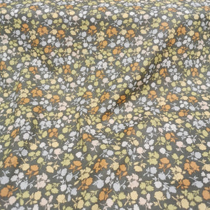 100% Cotton Lawn, Grey Floral - 1/4 metre