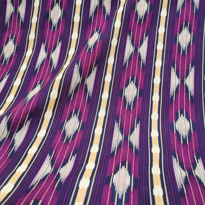 Art Gallery Rayon, Purple Ikat -1/4 metre