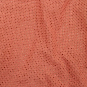 100% Cotton Embroidery Anglaise, Salmon- 1/4 metre