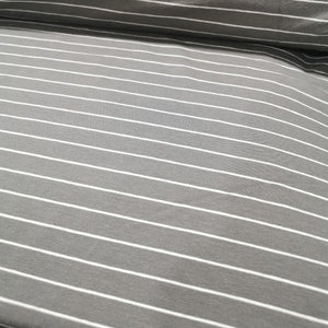 Art Gallery Jersey, Striped Sleek Graphite - 1/4 metre