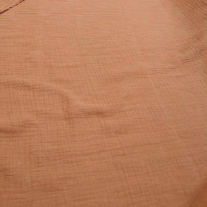 100% Organic Cotton Double Cloth Gauze, Cinnamon - 1/4 metre