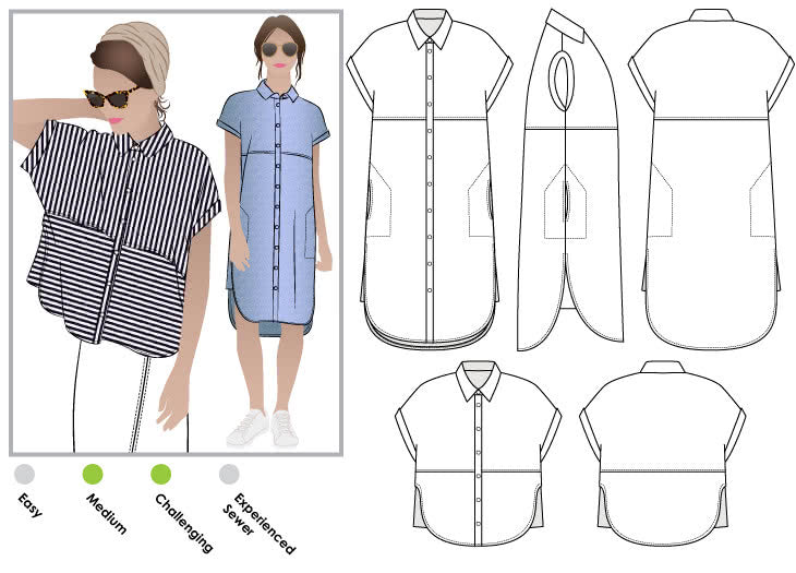 Style Arc Patterns Blaire Shirt and Dress - sizes 4 to 16