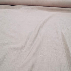 100 % Organic Cotton Double Cloth Gauze, Blush - 1/4 metre
