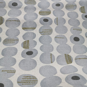 Kokka Linen Cotton Canvas, Stacked Pebbles - 1/4 metre