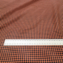 Load image into Gallery viewer, Silk Cotton, Gingham - Burnt Orange - 1/4 metre