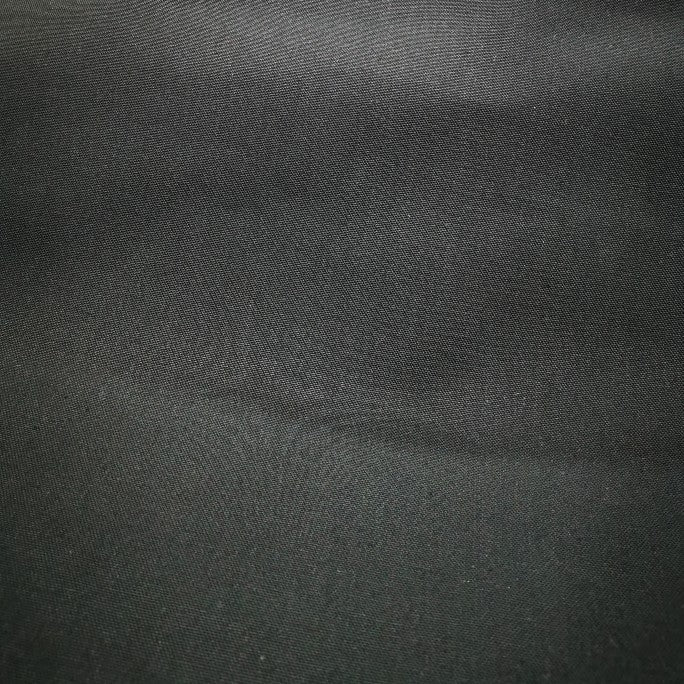 100% Cotton Canvas, Black OEKO certified - 1/4 metre