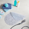 clear oval non slip bath mat