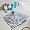 non slip bath mat with printed river pebbles image