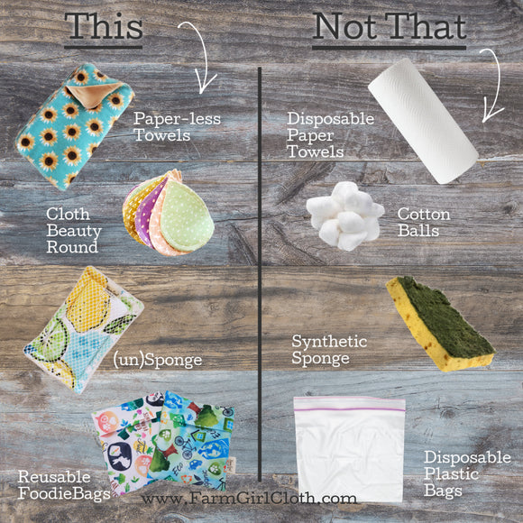 This, Not That - Zero Waste Alternatives to Disposable