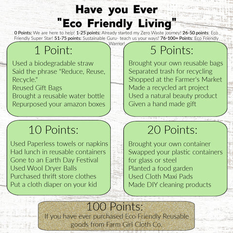 Have You Ever Eco Friendly Living Version