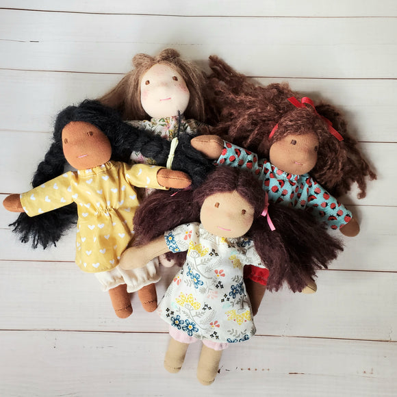 Wee Ones Waldorf Style Dolls, Handmade cloth doll