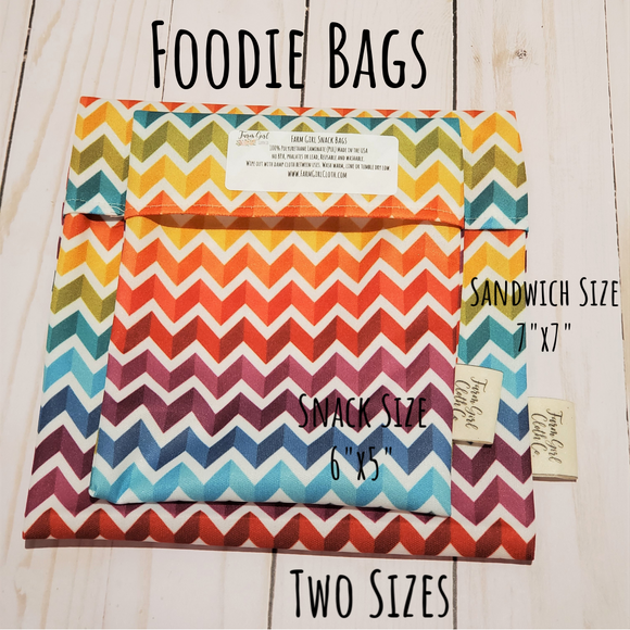 Reusable Snack Bags - Farm Girl Foodie Bags